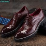 Fashion Genuine Leather Pointed Toe Formal Oxford Shoes