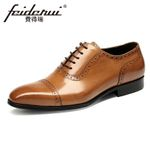 Formal Genuine Leather Round Toe Oxfords Shoes