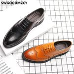 brogues leather  hombre social oxford shoes