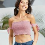 Sleeveless Slim Fit Stretchy Sexy Boho Crop Top