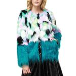 Fashion Warm Soft Cardigan O-neck Faux Fur Boho Coat