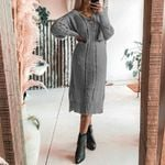 Knitted Basic Fashion Hollow Out Long Boho Sweater