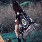Retro Floral Printed Loose Shawl Long Vintage Boho Kimono