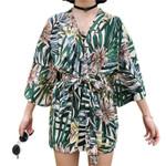 Cover Ups Floral Print Loose Shawl Lace Boho Kimono