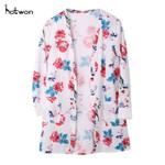 Cardigan Fashion Floral Loose Shawl Vintage Boho Kimono