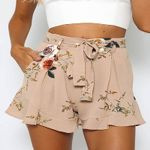 Local Fashion Floral Casual High Waist Boho Short