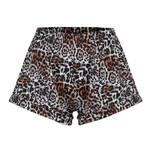 Leopard printed vintage Fashion elastic high waist boho short