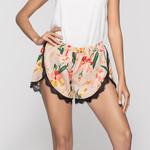 floral print Sexy lace Fashion Boho shorts