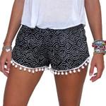 Elastic Waist Chiffon  Fashion Polka Dot Print Casual Boho Shorts