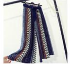 High Elastic Waist Vintage Printed Wide Leg Boho Pants