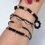 Vintage Bead Charm Jewelry Bohemian  Bangles