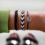 Lotus Pendant Woven Bohemian Bracelets