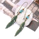 Vintage Hollow Charm Leaves Boho Earring