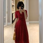 Print elegant Chic Vintage casual Dress
