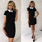 Casual Long Sleeve Turn down Collar Casual Dress