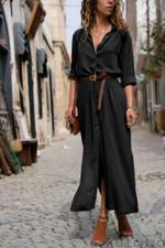 Loose Elegant Fashion Long Sleeve Casual Dress