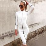 Casual Sexy Skinny Long Sleeve Elegant Bodycon Dress