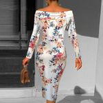 Off Shoulder Sexy Fashion Cocktail Floral Dress