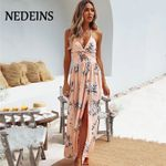 Beach Halter Party Floral Dress
