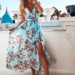 Sleeveless Floral Long Boho Dress