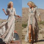 Print Evening  Chiffon High Waist Long Boho Dress