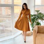 O Neck Elegant Vintage Fashion Casual Bandage Long Sleeve Dress