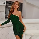 Fashion Front Drop Elegant One Shoulder Sexy Dress