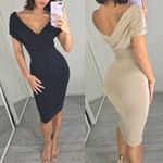 V neck Pencil Party Bandage Sexy Dresses