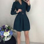 Long Sleeve Casual Fashion Elegant A-Line Shirt Dress