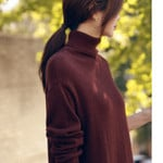 Turtleneck Casual Long Knitted Sweater Dress