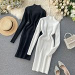 fashion Above Knee sweater dress