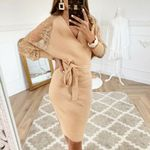 Long Sleeve Vintage Knitted Sexy Sweater Dress