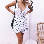 Dots Print Sexy Style High Waist Wrap Dresses