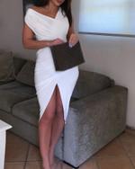 Sleeveless Sexy Elegant Skinny White Dress