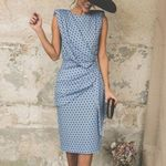 Elegant Sleeveless  Dot Sexy Wrap Vintage Dresses