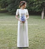 With  Short Sleeve A line Vintage A-line Style Wedding Dresses