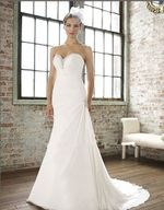 trumpet feature pleats Beading drop waist wedding dresses