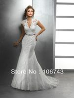 new style princess lace crystal sashes bridal wedding dress