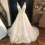 Vintage Buttons Back A-line Sleeveless Wedding Dress