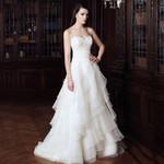 Sequins Off Shoulder Backless  Ruffles A Line Wedding Dresses