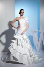 one shoulder fashion brand bridal gown  wedding dress