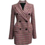 fashion full sleeves double breasted slim blazer dress