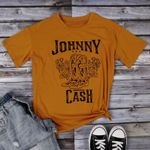 Graphic Top Johnny Cash Korean Short Sleeve T-shirt