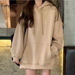 Korean Style Casual Solid Hoodies