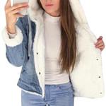 Big Fur Collar Lamb Fashion Thick Denim Jacket