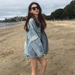 Casual Loose Fashion Vintage Hole Denim Jacket