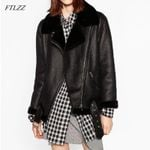 Thicken Faux Leather Fur Fur Lining Leather Jacket