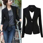 Fashion Slim Casual Blazer Suit Jacket
