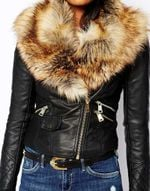 Hood Warm PU Outwear Faux Fur Leather Jacket