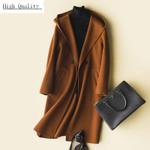 Fashion Trench Long Slim Wool Coat